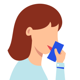 5925234 - close cough mouth tissue